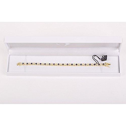 Infinity Saphir et Bracelet de Tennis de diamant argent (6.5in or)