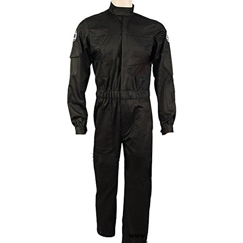 CosplaySky Star Wars Costume Imperial Tie Fighter Pilot Flightsuit Jumpsuit (Tie Fighter Pilot Costumes)