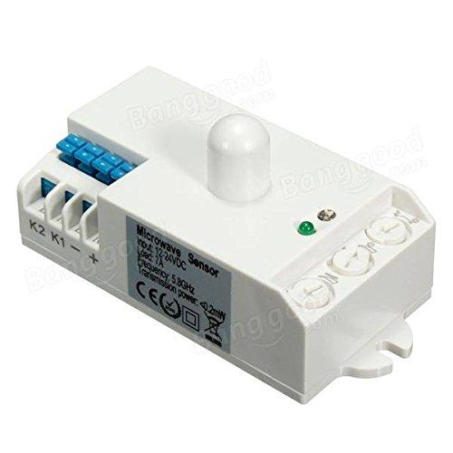 Global SK-807K-DC DC 12V-24V 5.8GHz Microwave Radar Sensor Light Switch Body Motion HF Detector