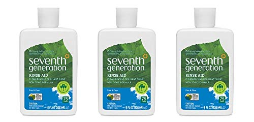 Seventh Generation Rinse Aid Free and Clear - 8 fl oz, Packaging May Vary (Pack of 3)