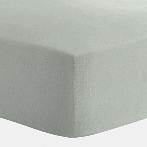 Carousel Designs Solid Cloud Gray Crib Sheet