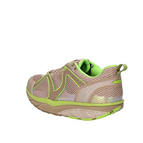 Mbt Hommes Sneakers 42 Ue Beige Vert Tissu