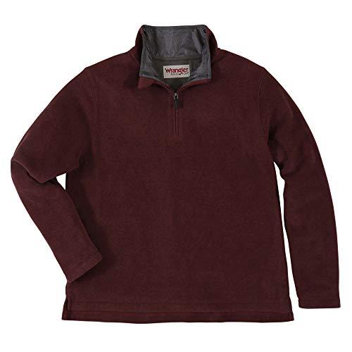 Wrangler Men's 1/4 Zip Fleece Pullover XXL Zinfandel