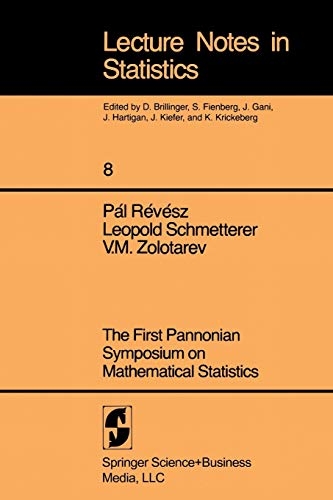 First Pannonian Symposium On Mathematical Statistics. (Lecture Notes in Statistics 8)