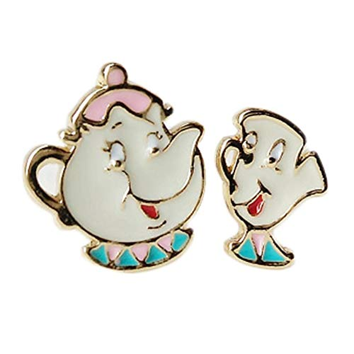 Beauty And The Beast Mrs. Potts And Chip Stud Earrings]()