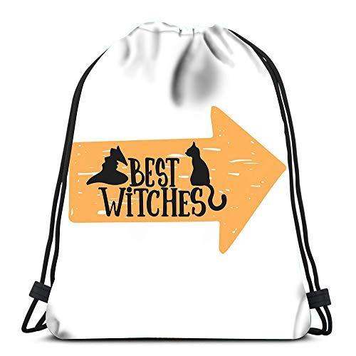 (Randell Gym Drawstring Backpack Sport Bag Halloween Party Phrases Sketches Lightweight Shoulder Bags Travel College Rucksack for Women)