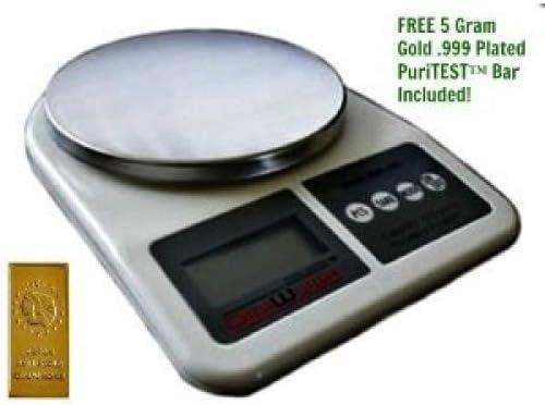 US BALANCE Mini Bench Digital Pocket Scale 1000 x 0.1gm Black//Silver