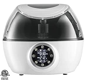 Gourmia GCR1700 10-in-1 Programmable Multi Cooker & Air Fryer with Exclusive Robotic Hands Free Stirrer (Third Generation), White Free Recipe Book Included,110v