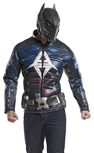 Knight Costumes Mask (DC Comics Men's Arkham Knight Muscle Chest Costume Top, Multi, Medium)