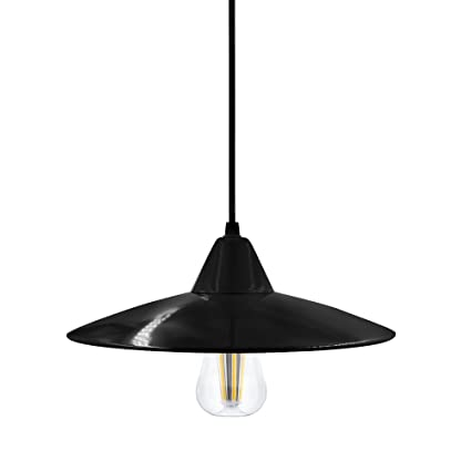 Lampade a Sospensione LED Moderni Nero in Metallo Lampadari a ...