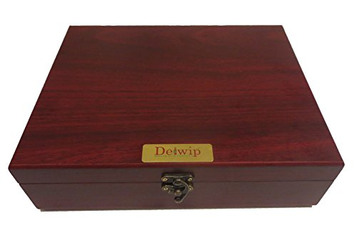 Delwip DW-WS17D Deluxe Wine Gift Set In Wooden Box Professional Wine Opener Corkscrew -