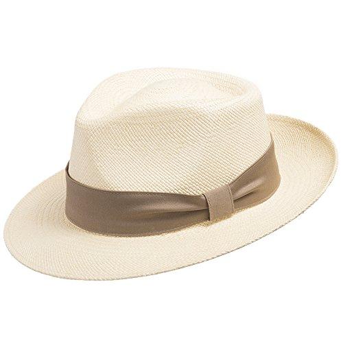 0357f8e0731 Genuine Havana Classic Panama Straw Dress Hat Comfortable Tan hatband 7  (Montecristi Panama Hat)