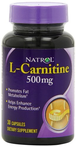 Natrol L-Carnitine 500mg Capsules, 30-Count (Pack of 3)
