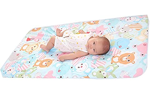 Reusable Portable Changing Pad Waterproof Sheet for Change Diaper Stroller Bed Play Crib Table Pad Baby Mat Home Travel Bears