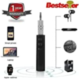 VOSAVO Celrax BT450 Wireless Receiver 3.5 mm Jack Stereo Bluetooth Audio Music Adapter for Speaker Car Aux Hands-free Kit Compatible with All Android and iOS Devices (Assorted Colour)