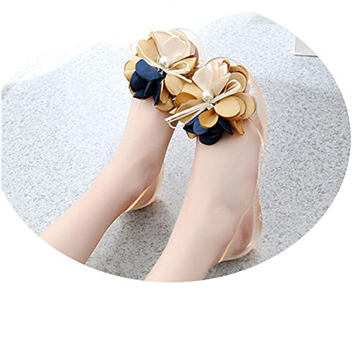 Heat-Tracing Lady Cute Black Bow tie Jelly Sandals Lady Casual Soft Sandals,BBB,5