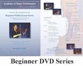 Violin Lessons - AMP - Starter Package- Beginner Violin Lessons on DVD with Music Book Written for a Learning Violinist and Fingering Charts, 100% Satisfaction Guarantee