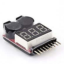 1S-8S LED Battery Low Voltage Buzzer Alarm 2 in1 RC Lipo Battery Low Voltage Meter Tester Indicator-Ez2Shop