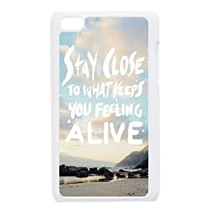 Custom Colorful Case for Ipod Touch 4, Stay Close Cover Case - HL-R682095