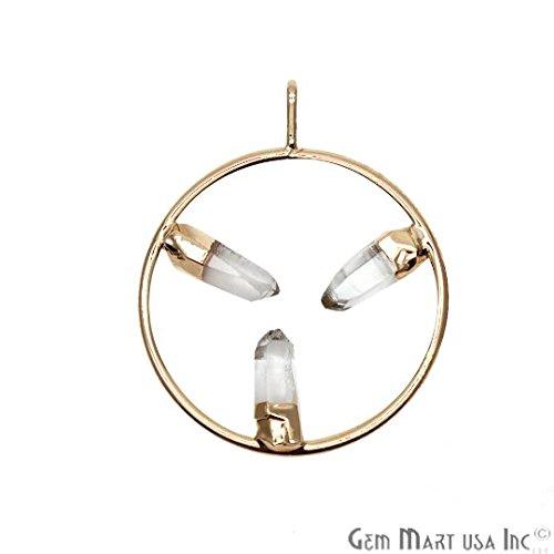 - Stalagmite Crystal Pendant, Triple Point Gold Necklace, Birthstone Gold Pendant, Jewelry Making Supplies, GemMartUSA (CHPR-50236)