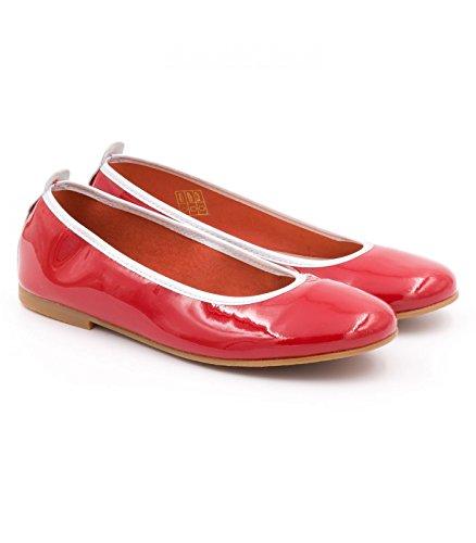 Boni Classic Shoes Bailarinas de Piel Lisa Niñas Rojo