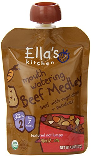 Ella's Kitchen Organic Stage 2, Beef Medley with Vegetables + Potatoes, 4.5 Ounce (Pack of (Dinner Foods)