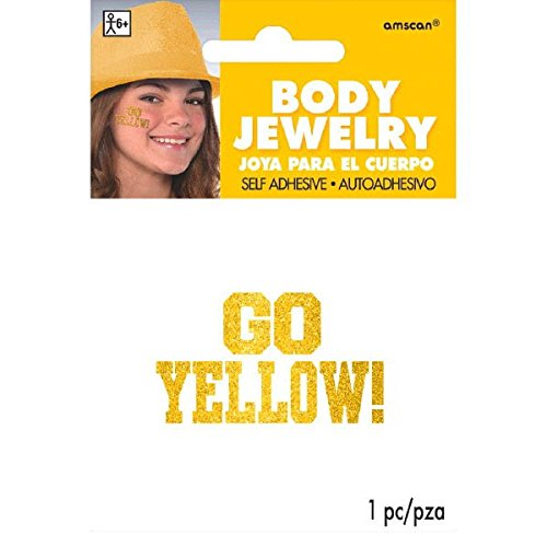 Amscan Go Body Jewelry, Party Accessory, Yellow]()