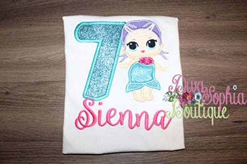 Mermaid Birthday Top by Diva Sophia Boutique