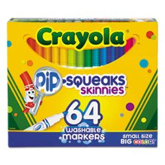 Pip-Squeaks Skinnies Washable Markers, 64 Colors, 64/set (Markers Pipsqueaks Skinnies)