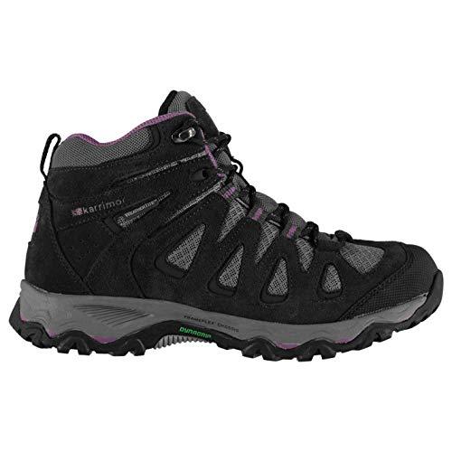 - Karrimor Womens Thorpe Mid Walking Boots Lace Up Waterproof Charcoal/Purple 7.5 US
