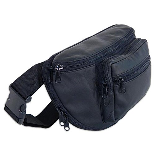 SPORTSMAN EDGE Medium Leather Fanny Pack with Holster