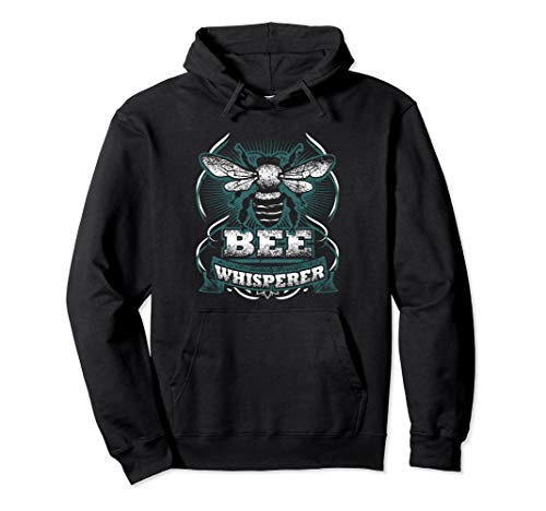 Bee Whisperer Retro Honey Bee Hoodie Funny Beekeper Gift]()