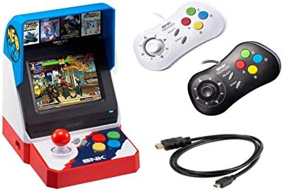 and HDMI Cable Neo Geo Pocket 1 Black /& 1 White Includes 2 Game Pads Neogeo Mini Pro Player Pack Japanese Version