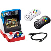 Game Monkey Neogeo Mini Pro Player Pack Japanese Version - Includes 2 Game Pads (1 Black & 1 White) and HDMI Cable - Neo Geo Pocket