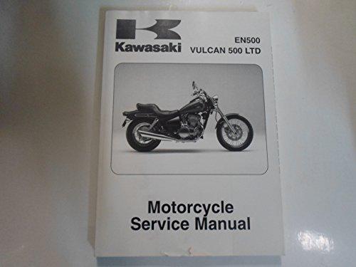 1996-2008 Kawasaki EN500 Vulcan 500 LTD Motorcycle Service Manual DAMAGED (Kawasaki En500 Manual)