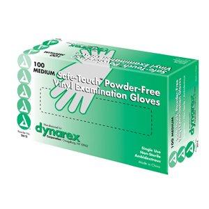 Safe-Touch Vinyl Exam Gloves Powder Free - XLarge - 100/Box