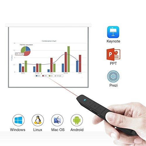 BlueBeach Wireless Rechargeable USB Presenter PowerPoint Remote Control Laser Pointer with Hyperlink Function for PPT / Keynote / Prezi / OpenOffice / Windows / Mac OS / Android / Linux by BlueBeach (Image #7)