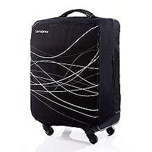Samsonite Printed Luggage Cover, Black, Large
