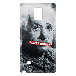 Loud Universe Samsung Galaxy Note 4 3D Wrap Around Albert Einstein Print Cover - Multi Color