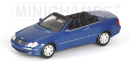2003 Cabriolet (MINICHAMPS 1/43 - 400 031431 MERCEDES BENZ CLK KLASSE CABRIOLET 2003 BLUE MET)
