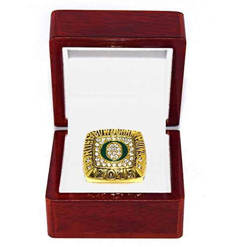 UNIVERSITY OF OREGON (Ducks) 2015 ROSE BOWL CHAMPIONS (Vs. Florida State) Collectible High-Quality Replica NCAA Football Gold Championship Ring with Cherrywood Display Box