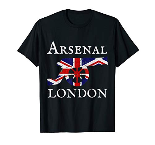 Arsenal Soccer Football - Arsenal London Soccer Jersey Cannon Union Jack T-Shirt