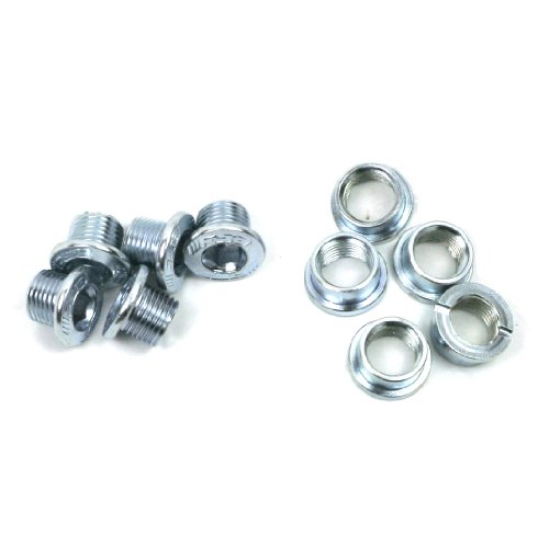 FSA Steel Single Speed Chainring Bolt Kit (10 Piece, Silver)