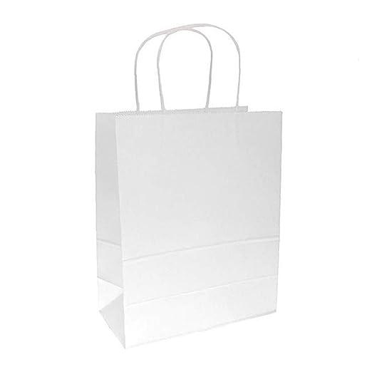 10 PCS Regalo Libro Blanco Kraft Bolsas A Granel con Asas ...