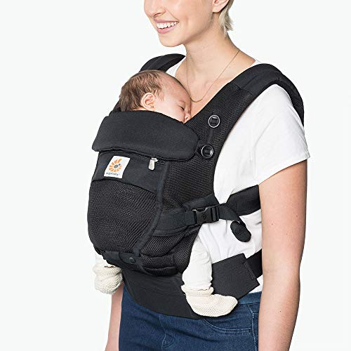 Ergobaby Adapt Baby Carrier, Infant To Toddler Carrier, Cool Air Mesh, Multi-Position, Onyx Black
