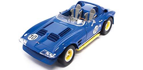 Road Signature 92697 1964 Chevrolet Corvette Grand Sport Roadster #10 Dark Blue 1/18 Diecast Model Car 18 Scale Diecast Corvette