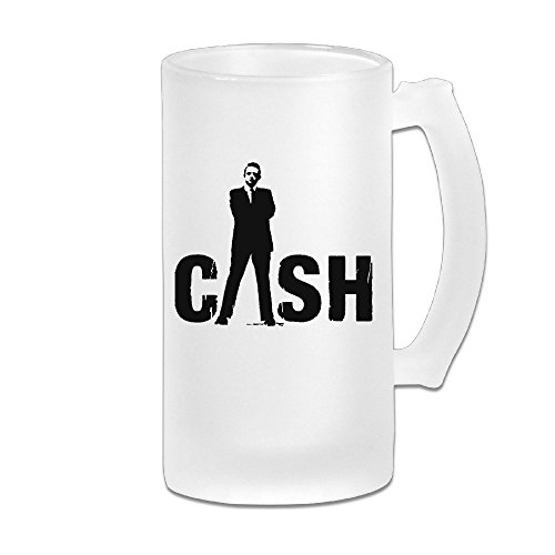 Sunny Fish5hh Johnny Cash Customized Beer Glasses 16 Oz