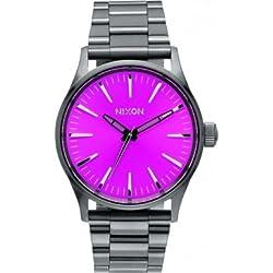 Nixon Women's Sentry A4502096 Gunmetal Stainless-Steel Quartz Watch