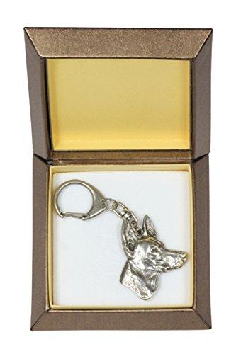 NEW, Pharaoh Hound, dog keyring, key holder, in casket, limited edition, ArtDog New Pharaoh Hound