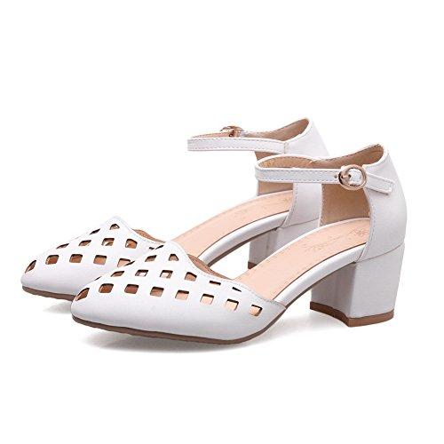 Blanc Blanc 5 Sandales Compensées ASL05341 Femme EU BalaMasa 36 xaXgFp